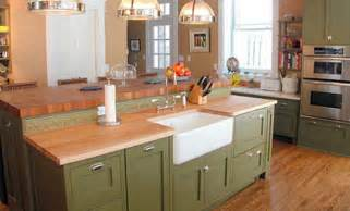 Kitchen Countertops Company Maple Butcherblock Kitchen Countertop With Sink By