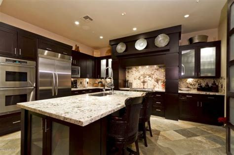 dark kitchen cabinets with light granite countertops 20 beautiful dark cabinets light countertops design ideas