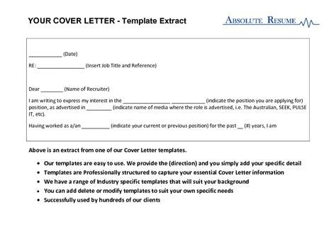 Cover Letter Email Australia For All Your Resume Cover Letter And Bio Template Needs