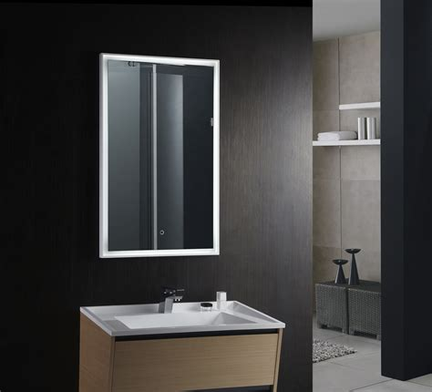 Backlit Bathroom Vanity Mirrors 28 Bathroom Lighting Bathroom Mirror Led Rectangular Mirror Light In Matt Nickel Or