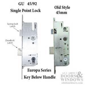 Monolock 45 92 single door lock key below lever stainless steel