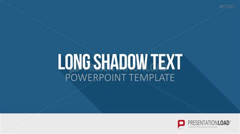 Powerpoint Vorlagen Flat Design Presentationload Flat Design Shadow Text