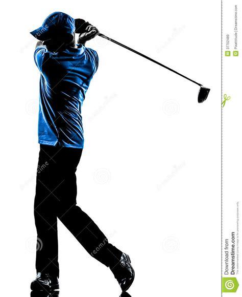shadow swing man golfer golfing golf swing silhouette royalty free