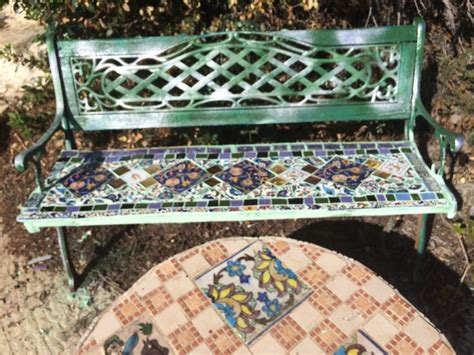 ceramic garden bench 1000 images about ceramic benches on pinterest