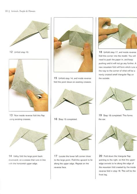 Elephant Origami Diagram - 39 best learning origami images on paper