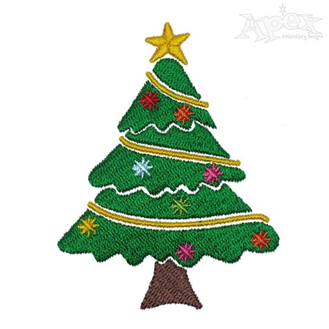 designer decorated trees decorated tree embroidery design