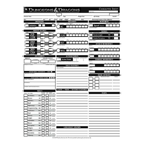 Printable D D Character Sheet find printable d d character sheets to enhance your