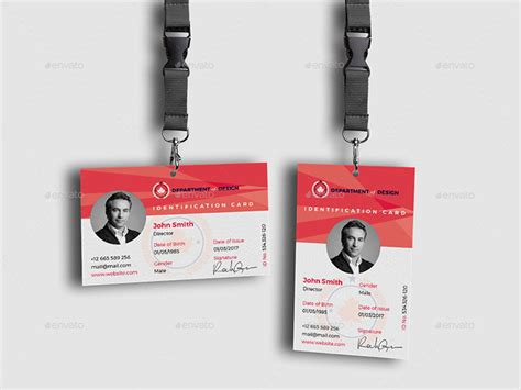 9 page card template landscape 30 best id card and lanyard templates psd vector