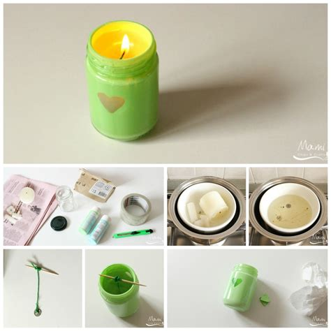 idee candele fai da te riciclo creativo candele fai da te a costo zero