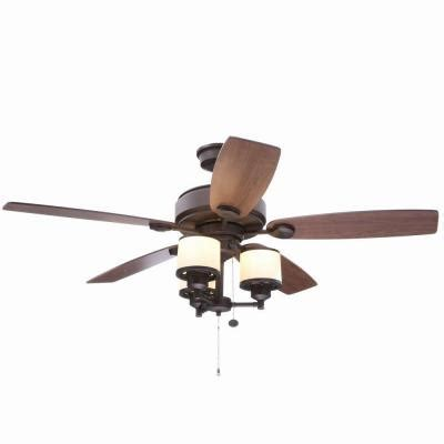 hton bay transitional collection ceiling fan hton bay waterton ii 52 in rubbed bronze ceiling