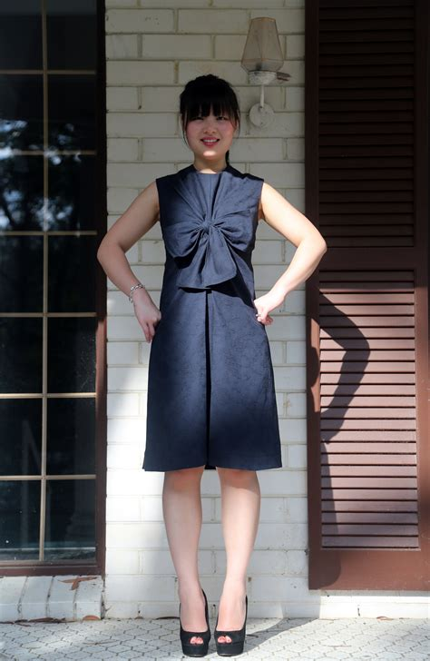 pattern magic dress pattern magic knot dress in embroidered twill sewing