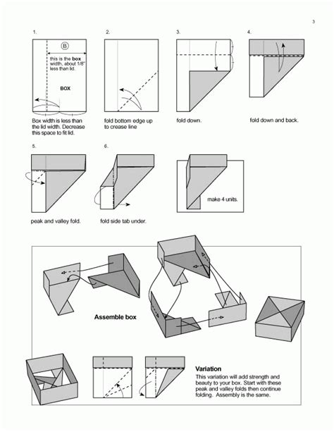 Origami Boxes With Lids Templates - origami diagrams featured in paper unlimited paper unlimited