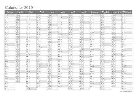 Calendrier 2019 Vierge Calendrier 2019 224 Imprimer Pdf Et Excel Icalendrier