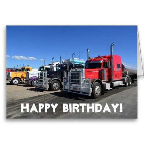Truck Birthday Cards Free american trucks happy birthday greeting card truck