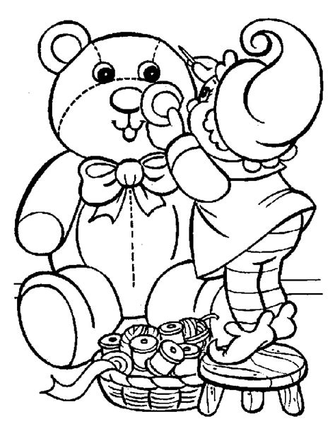 christmas coloring pages teddy bear christmas bear coloring pages coloringpages1001 com