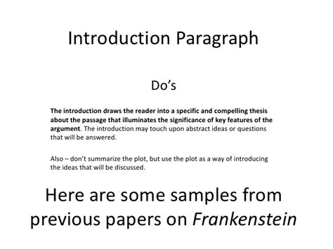 Thesis Statements For Frankenstein by Frankenstein Paper