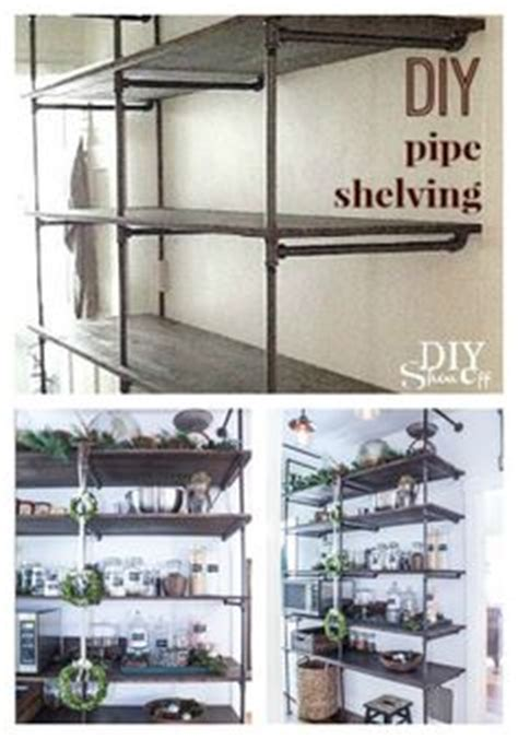 industrial pipe shelves tutorial they work great anywhere simon s room on boy bedrooms chalkboard doors and pipe shelving