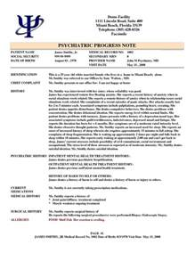 Psychiatric Progress Note Template by 13 Best Images About Progress Notes On