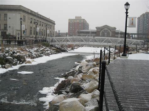 yonkers ny file riffles in der donck daylighting park in winter