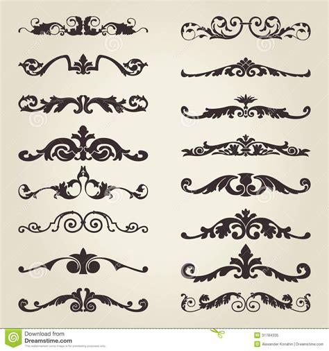 border decorative vintage elements vintage decorative elements stock vector illustration of