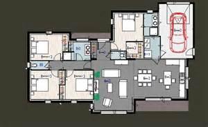 plan plain pied 3 chambres avec suite parentale et