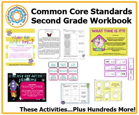 Common Math Worksheets For 2nd Grade by Second Grade Common Workbook