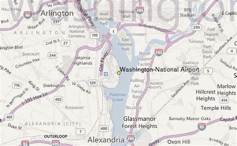 airports in washington dc map washington national airport weather station record