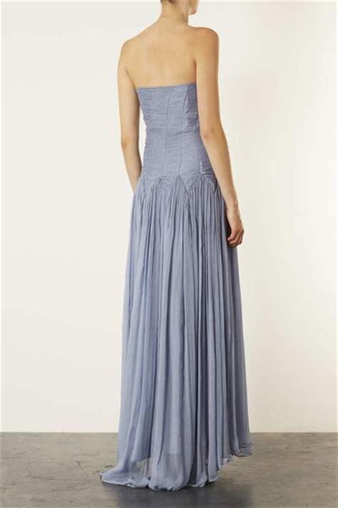 Dress Maxi Dress Dress Raisa Limited Topshop Limited Edition Bandeau Ruch Maxi Dress In Blue Lyst