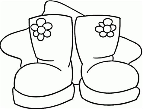 Rain Boots Coloring Page Coloring Home Boots Coloring Pages