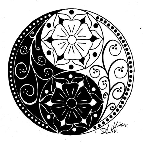 ying yang tattoo design free coloring pages of ying yang