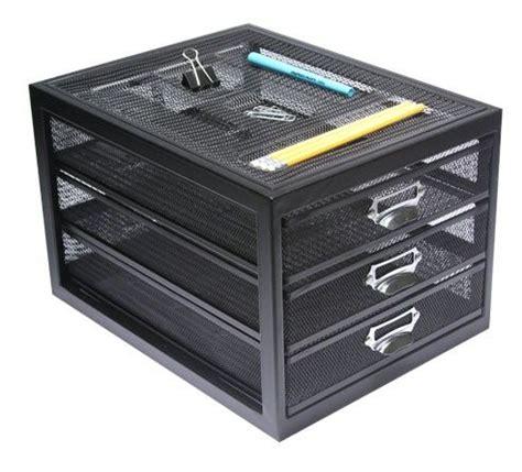 Desktop Drawer Unit by Black Mesh Desktop 3 Drawer Unit