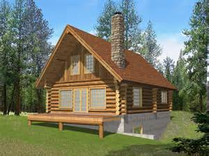 House Plans Log Cabin Questover Canyon Log Cabin Home Plan 088d 0053 House