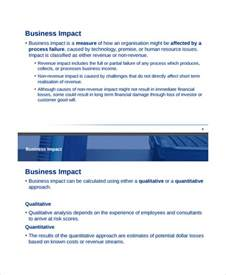 business impact template impact analysis template 11 free word pdf documents