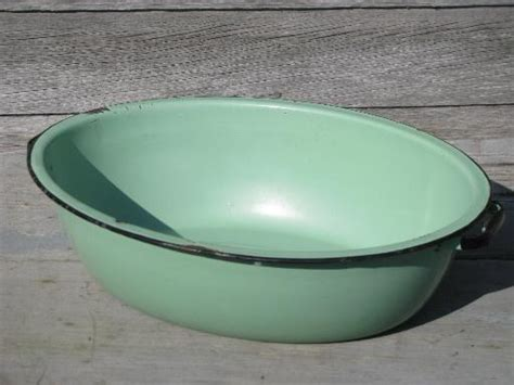 washing dishes in bathtub jadite green vintage enamelware big old primitive wash tub oval dish pan