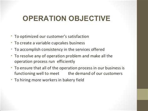 how to write a business objective statement sle business plan presentation