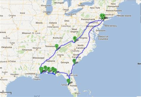 road map us east coast east coast road map clubmotorseattle