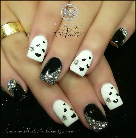 white and black pattern nails 20 pretty nail designs for this new season pretty designs