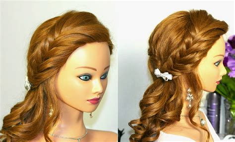 hairstyles for curly short hair youtube curly prom hairstyle for long hair with braids youtube