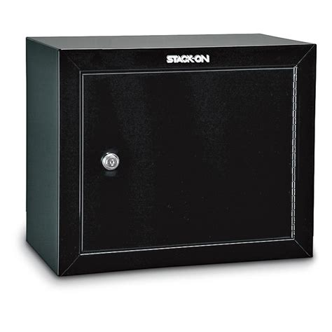 stack on 14 gun cabinet stack on 174 14 gun cabinet with top box black finish