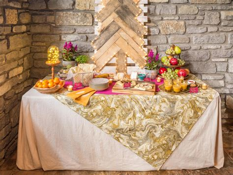 how to set up a gorgeous buffet table for your holiday