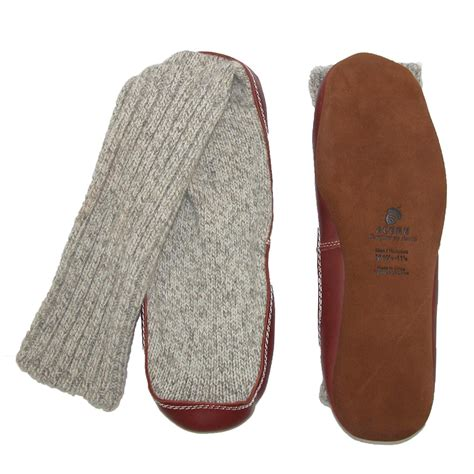 mens slippers socks mens wool sock slippers by acorn s slippers at