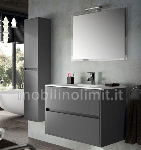 mobile bagno grigio mobile bagno moderno con lavabo l 80 grigio opaco