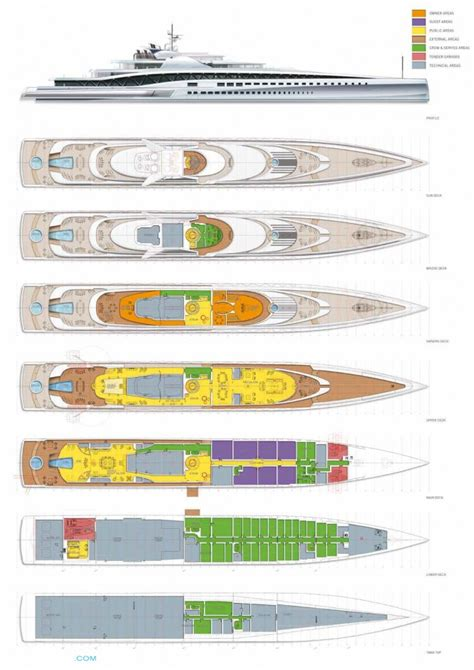 serene yacht layout breath taking 145m mega yacht fortissimo concept for sale