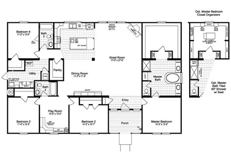 casa floor plan the casa grande vr41644a manufactured home floor plan or