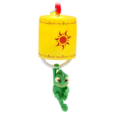 tangled in lights stocking pascal light up hanging ornament tangled