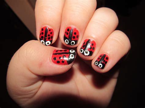 cute easy lady bug nail art youtube lady bug nails nail art