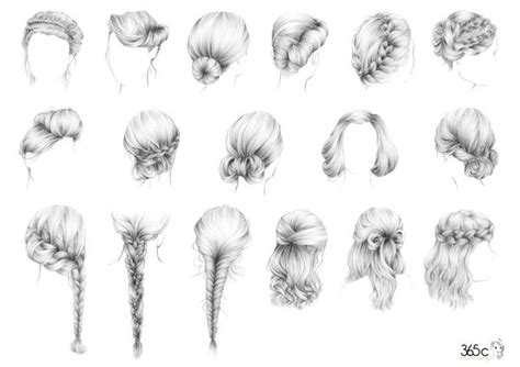 hairstyles drawings braided hairstyle sketches hair sketches