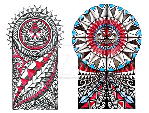 tribal colors polynesian tribal tatoos with colors by thehoundofulster