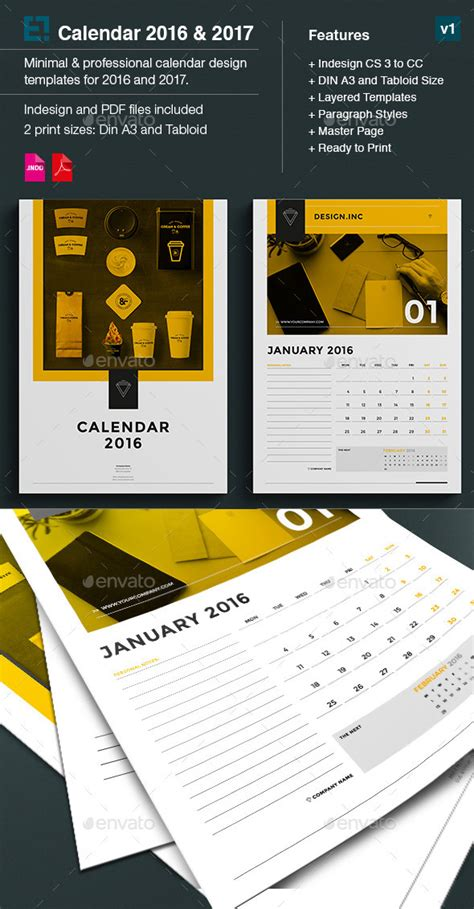 adobe indesign monthly calendar 2016 calendar template 2016