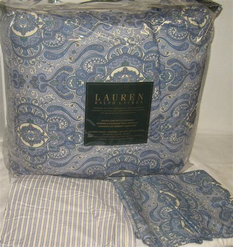 ralph lauren paisley comforter set ralph lauren colchester blue paisley stripe queen or king